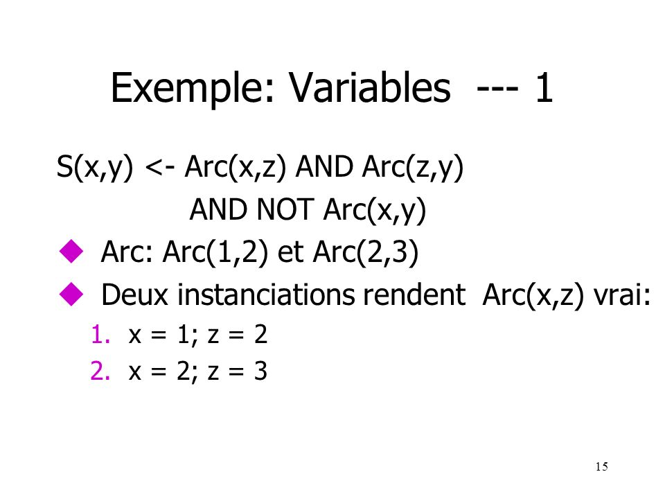 Exemple: Variables --- 1