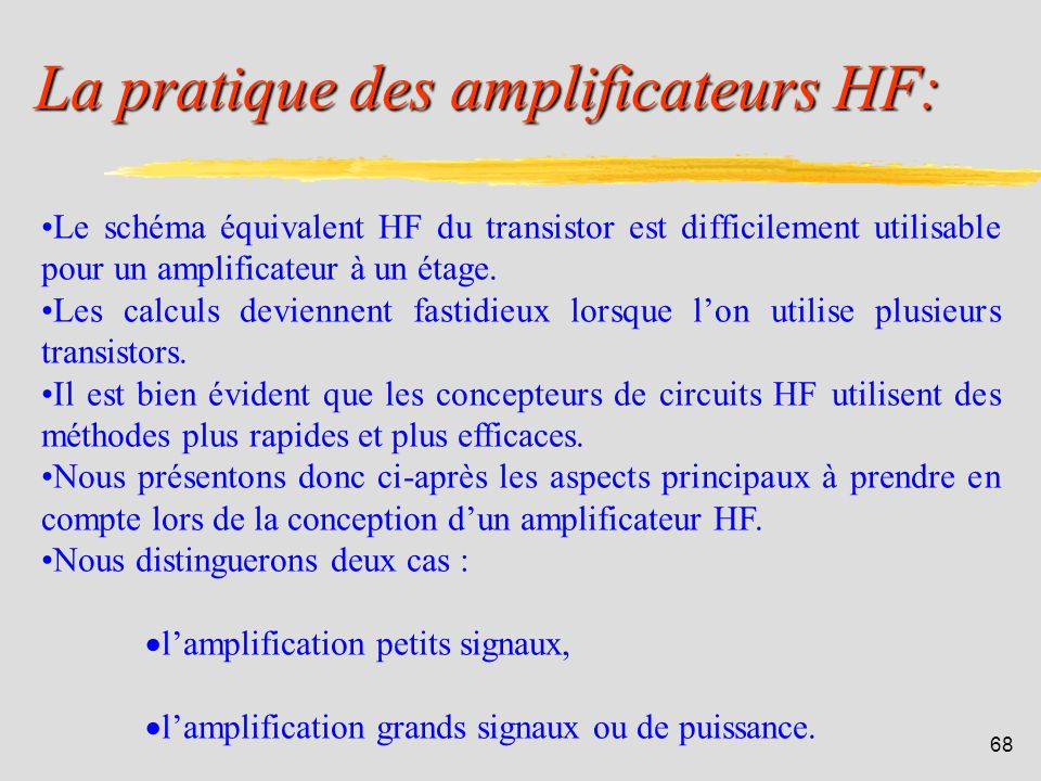 La pratique des amplificateurs HF: