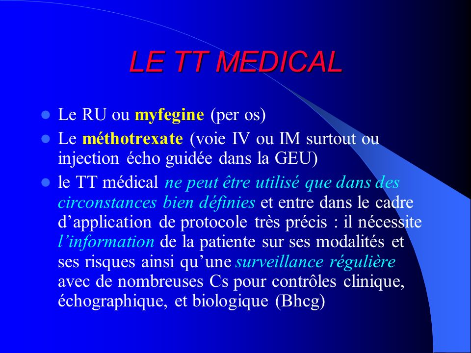 LE TT MEDICAL Le RU ou myfegine (per os)