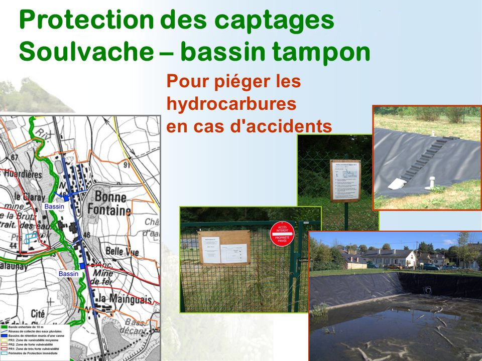 Protection des captages Soulvache – bassin tampon