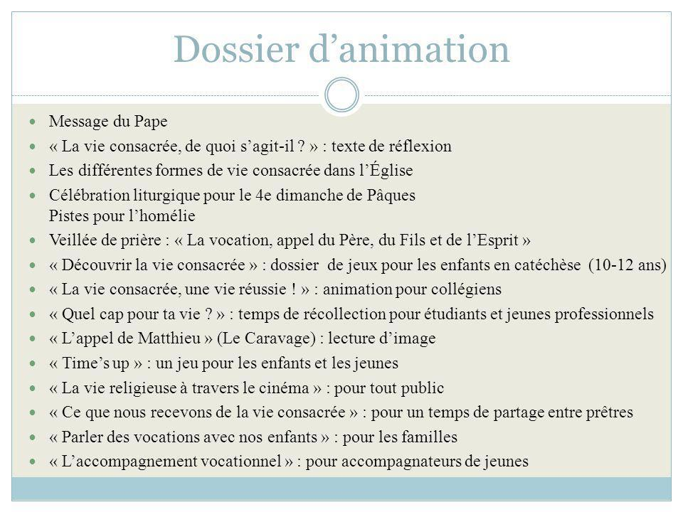 Dossier d'animation Message du Pape