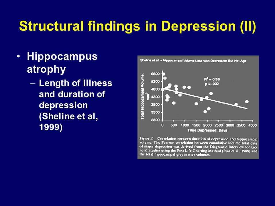Structural findings in Depression (II)