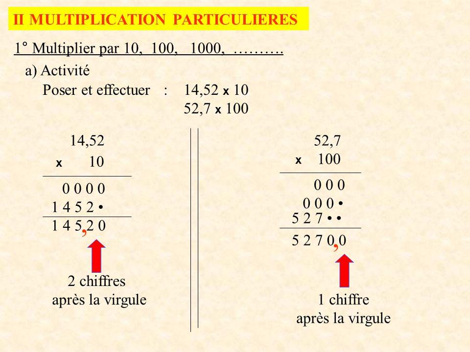 poser multiplication à virgule