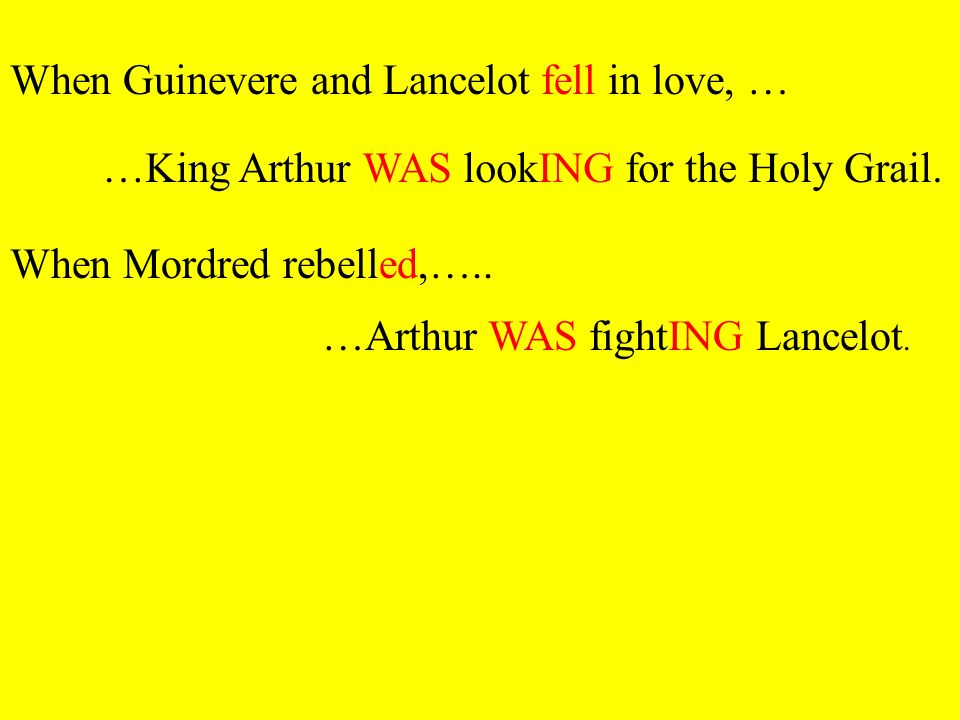 When Guinevere and Lancelot fell in love, …