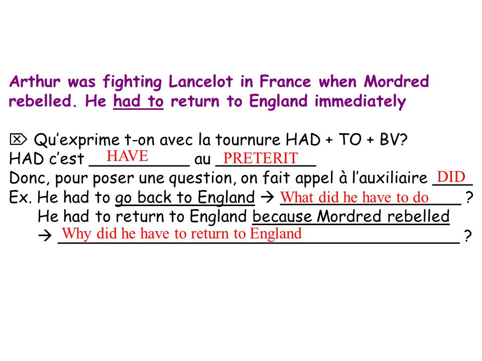 Arthur was fighting Lancelot in France when Mordred rebelled