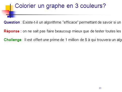 Colorier un graphe en 3 couleurs