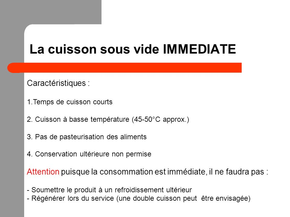 La cuisson sous vide IMMEDIATE