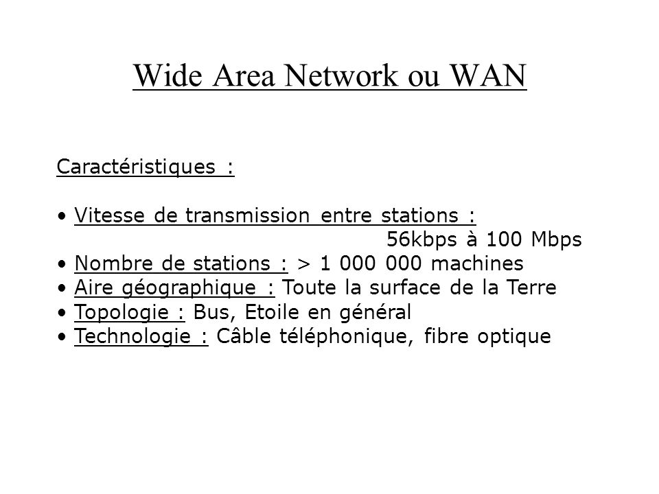 Wide Area Network ou WAN