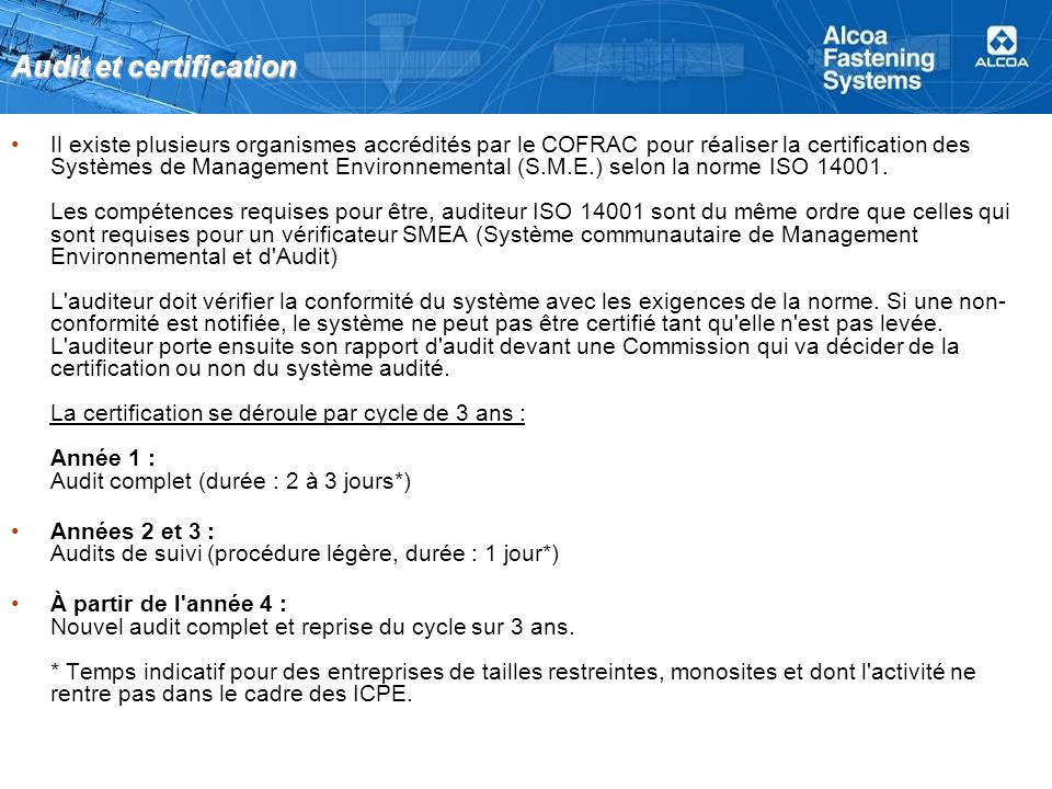 Audit et certification