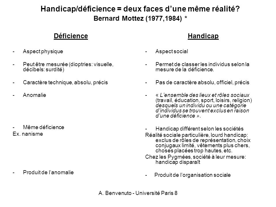 A. Benvenuto - Université Paris 8