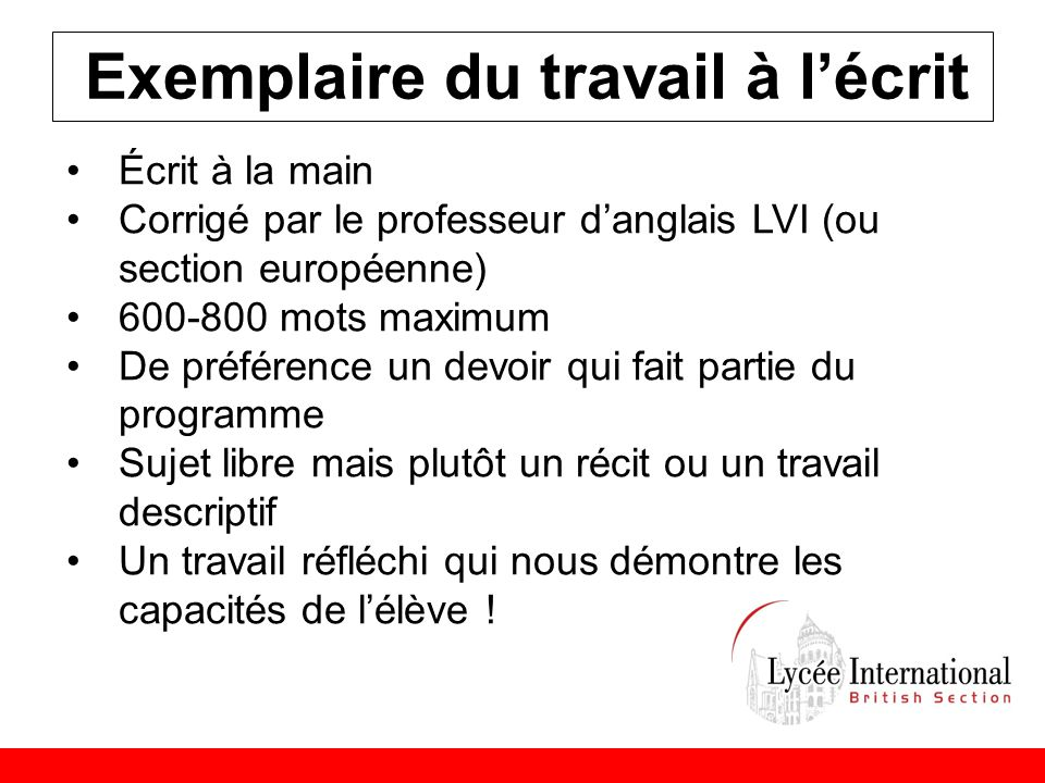 lettre de motivation section europeenne