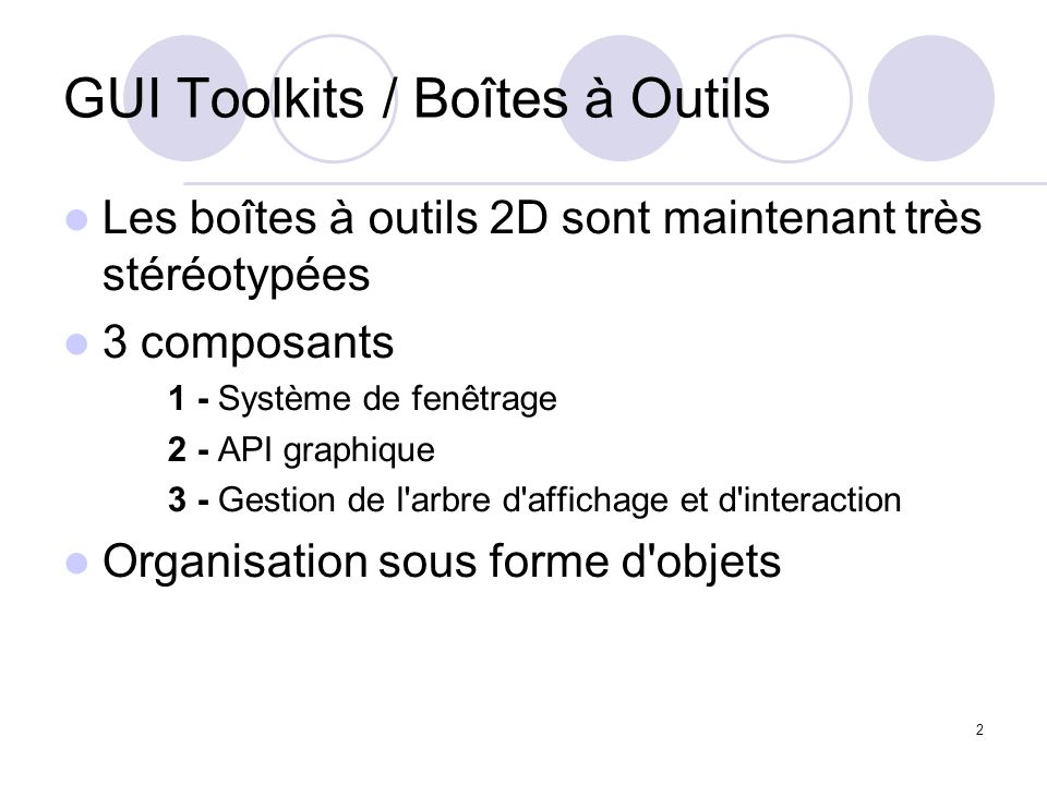 GUI Toolkits / Boîtes à Outils