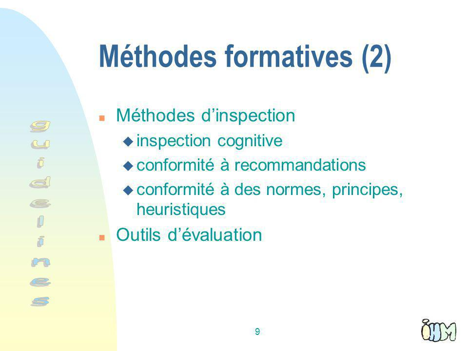 Méthodes formatives (2)