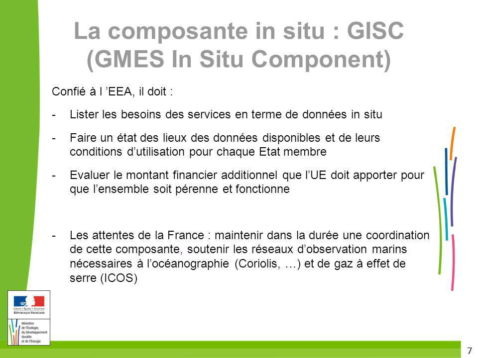 La composante in situ : GISC (GMES In Situ Component)