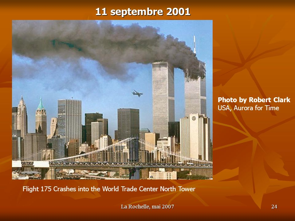 11 septembre 2001 Photo by Robert Clark USA, Aurora for Time