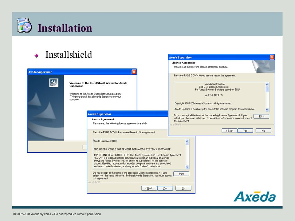 Installation Installshield
