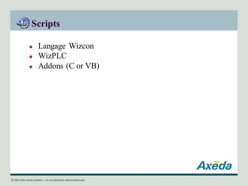 Scripts Langage Wizcon WizPLC Addons (C or VB)