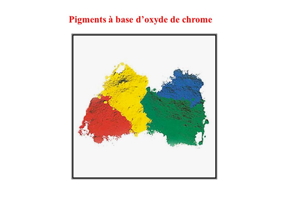 Pigments à base d'oxyde de chrome