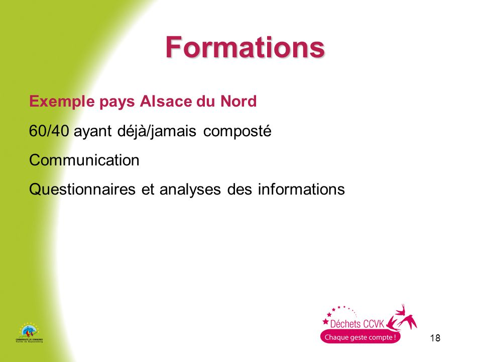 Formations Exemple pays Alsace du Nord