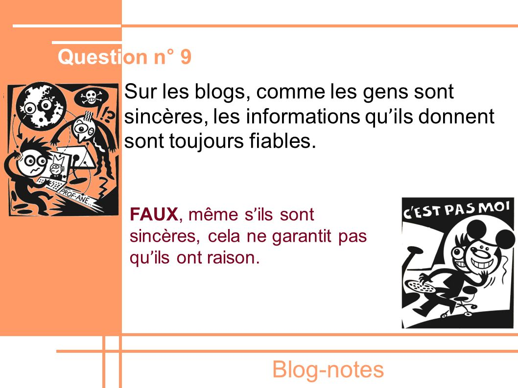 Blog-notes Question n° 9