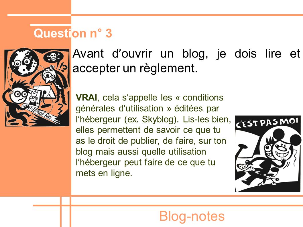 Blog-notes Question n° 3