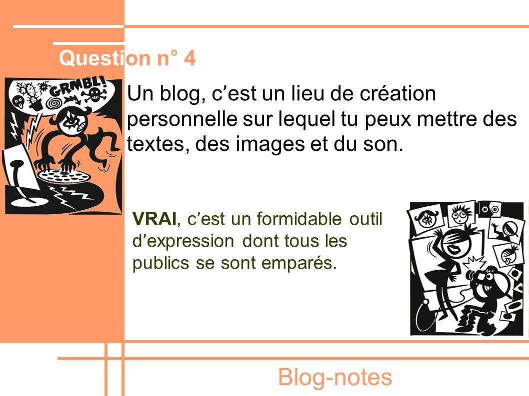 Blog-notes Question n° 4