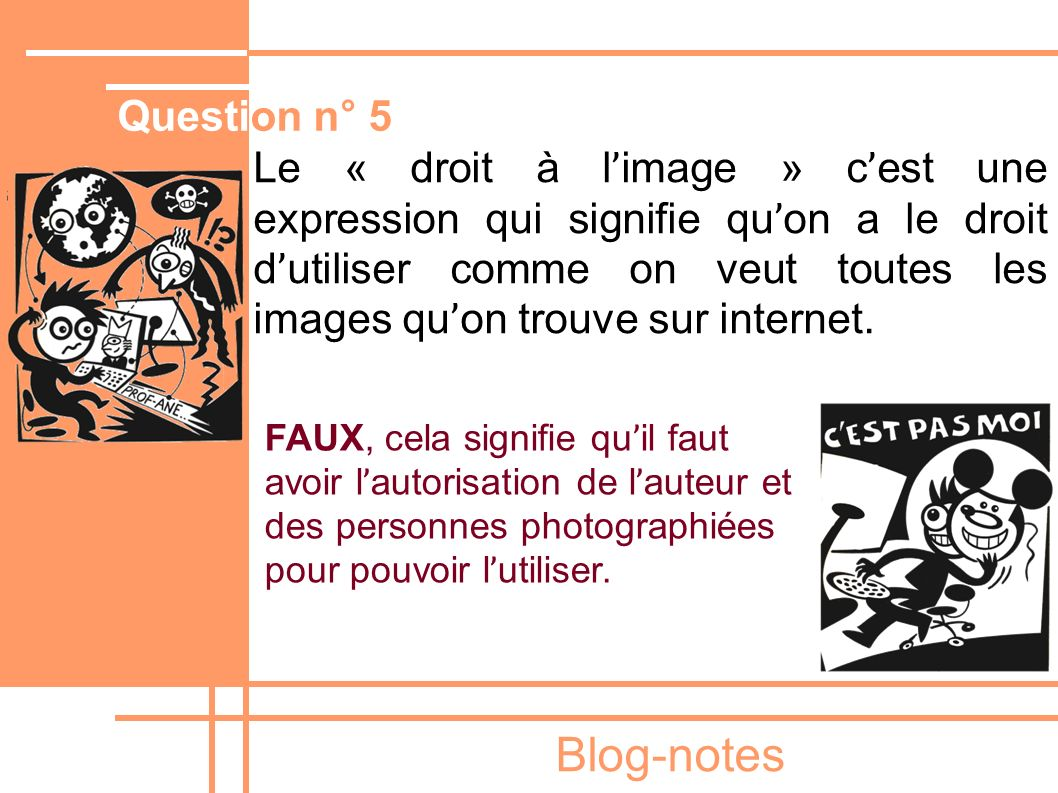 Blog-notes Question n° 5