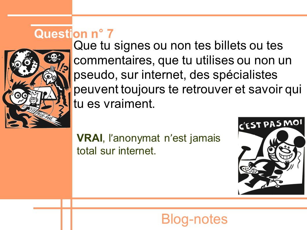Blog-notes Question n° 7