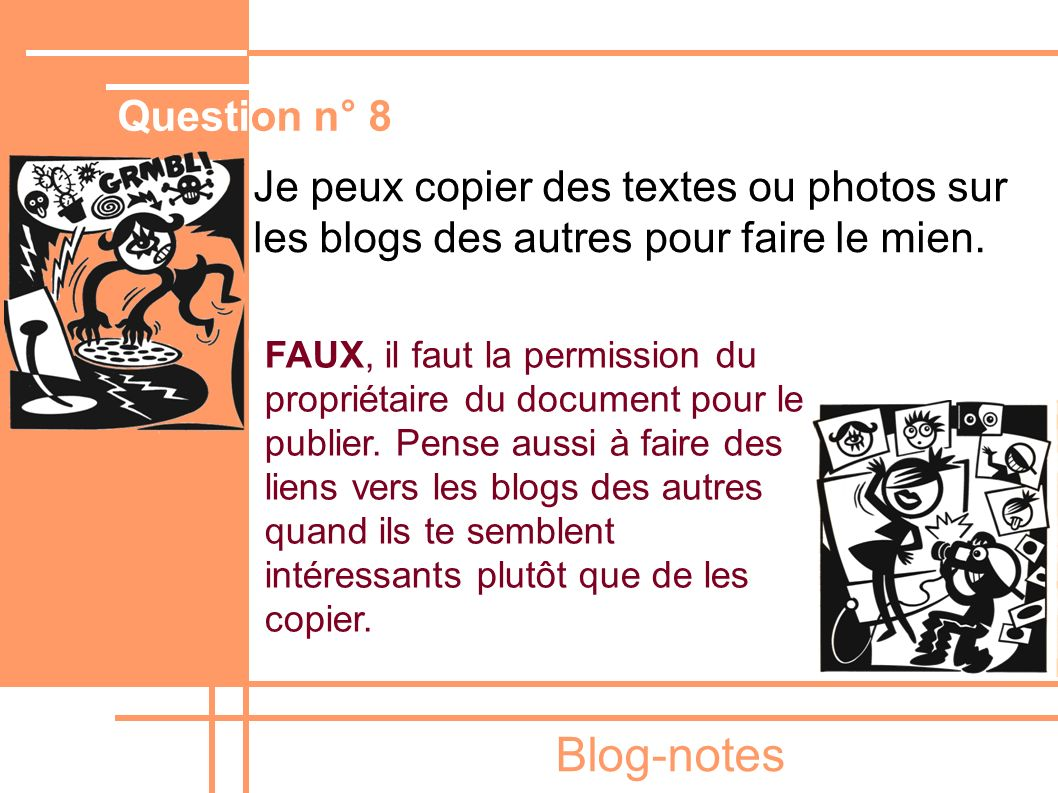 Blog-notes Question n° 8