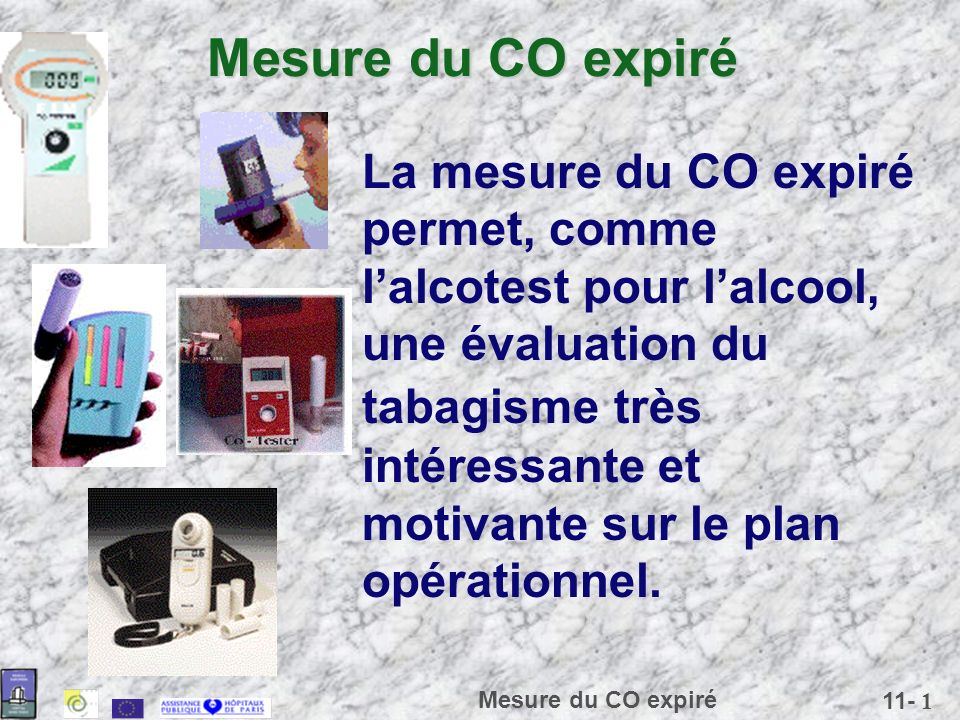 Mesure du CO expiré