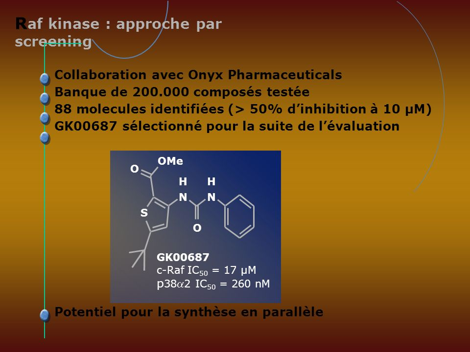 Raf kinase : approche par screening