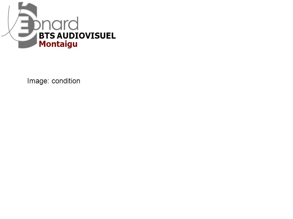 BTS AUDIOVISUEL Montaigu Image: condition