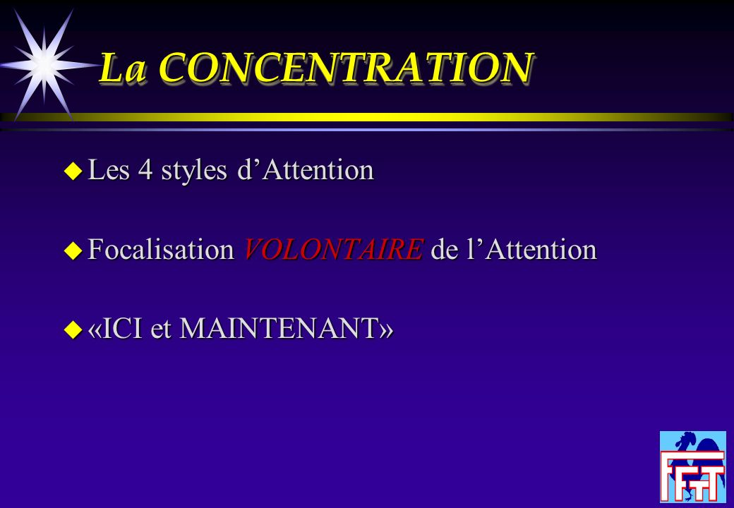 La CONCENTRATION Les 4 styles d'Attention