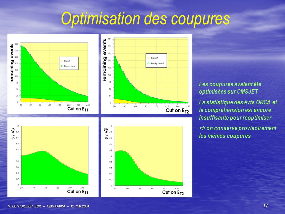 Optimisation des coupures