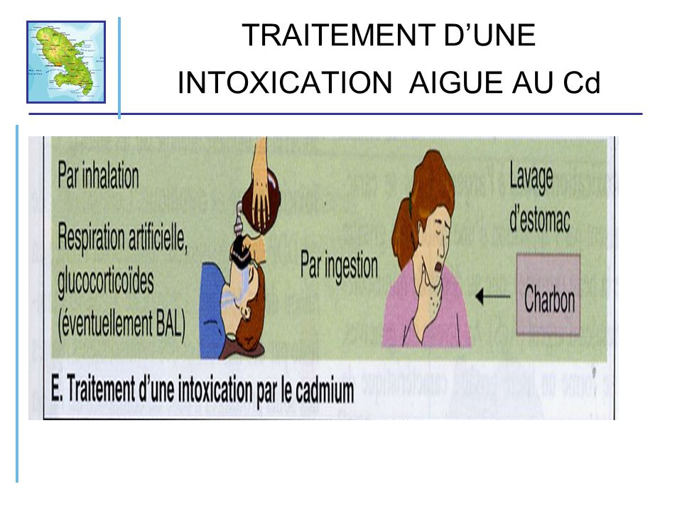 TRAITEMENT D'UNE INTOXICATION AIGUE AU Cd