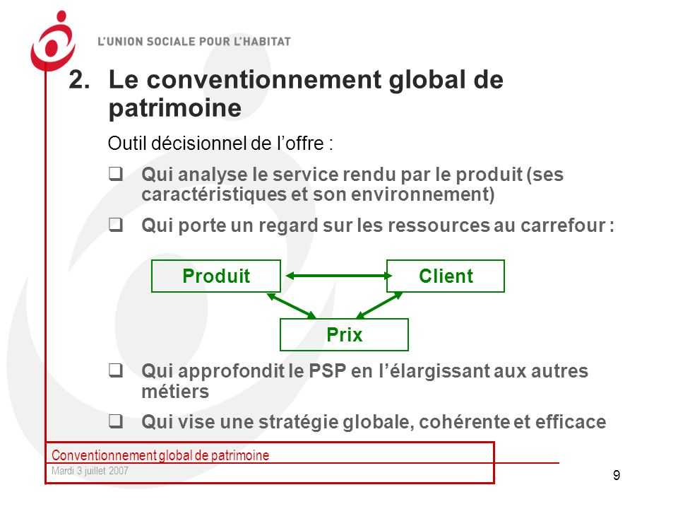 Le conventionnement global de patrimoine