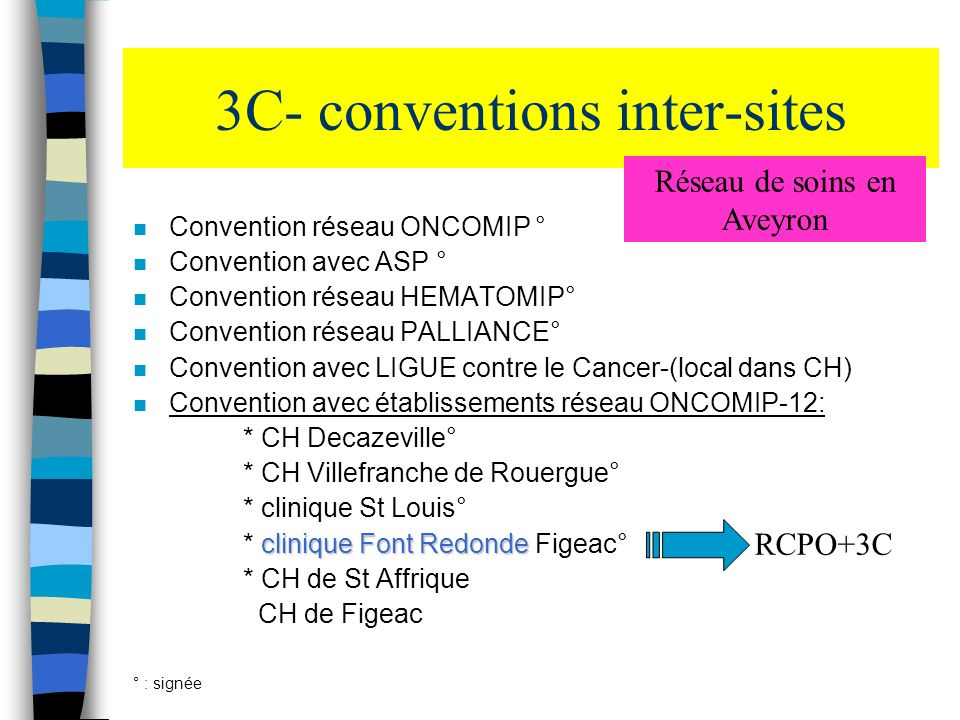 3C- conventions inter-sites