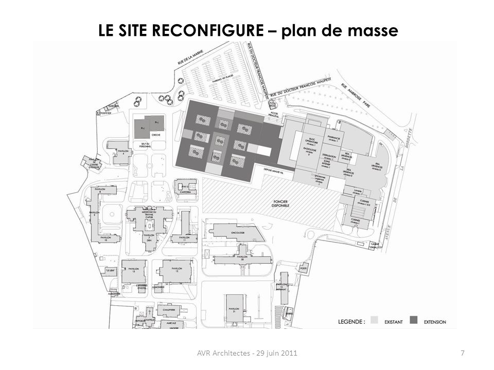 LE SITE RECONFIGURE – plan de masse