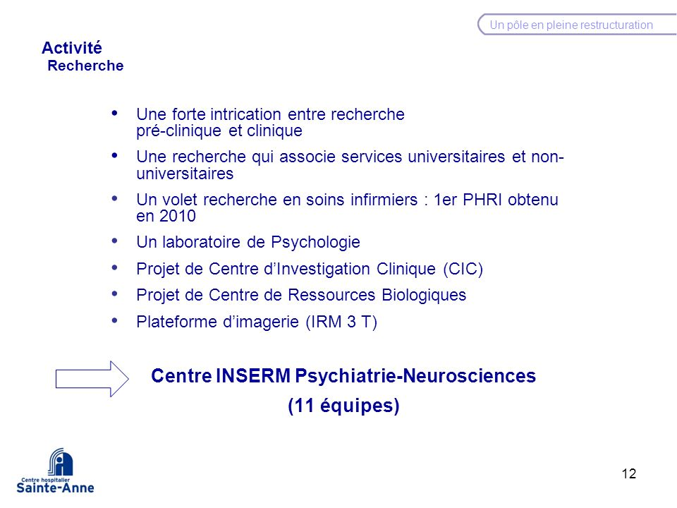 Centre INSERM Psychiatrie-Neurosciences