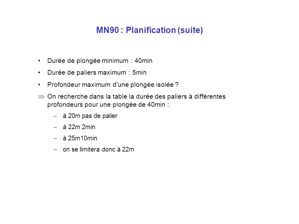 MN90 : Planification (suite)