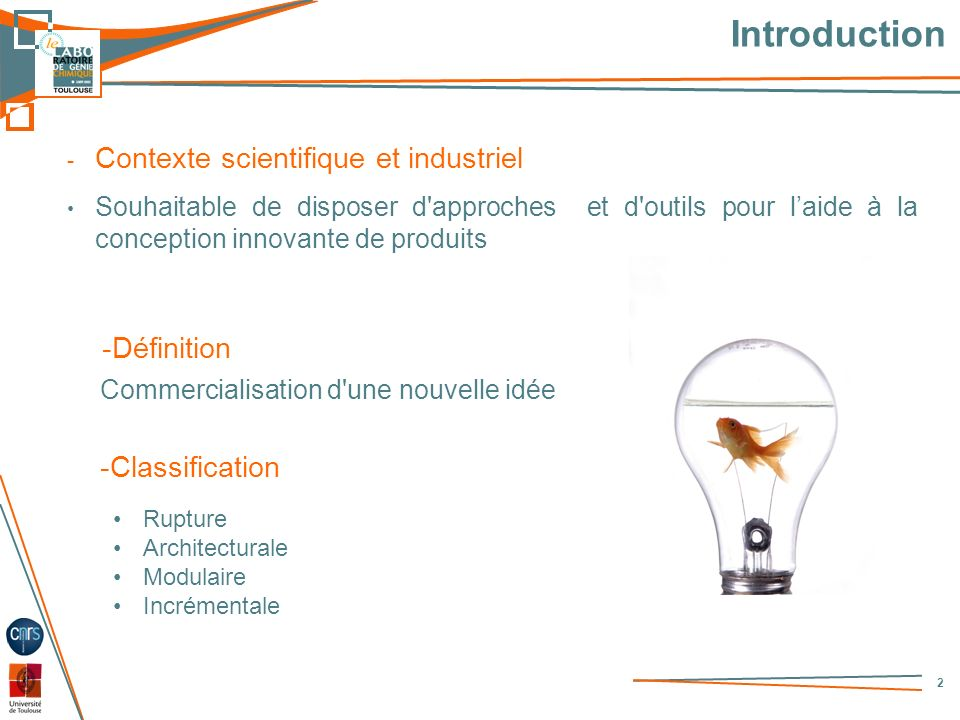 Introduction Contexte scientifique et industriel -Définition