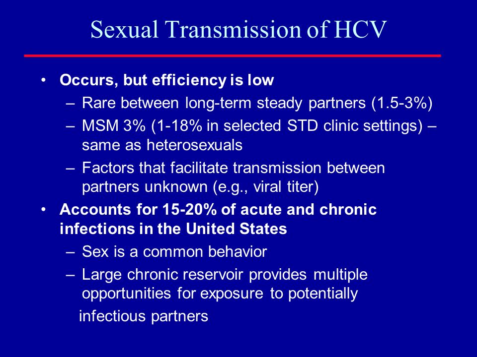 Sexual Transmission of HCV