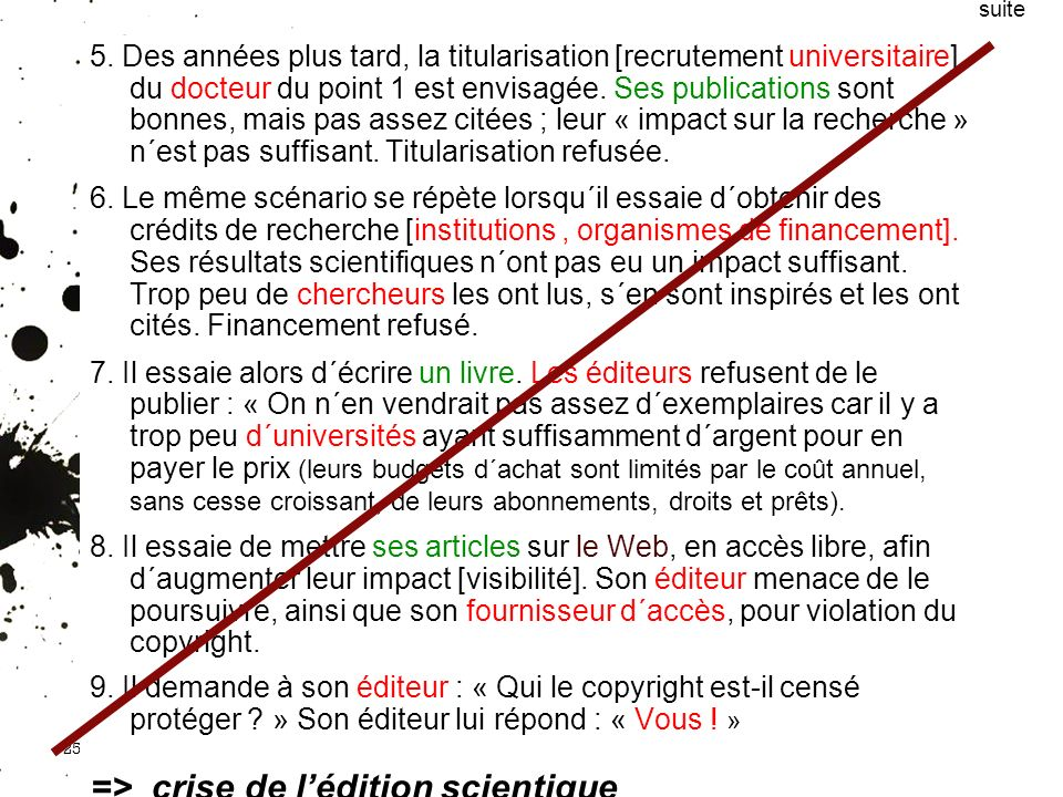 => crise de l'édition scientique