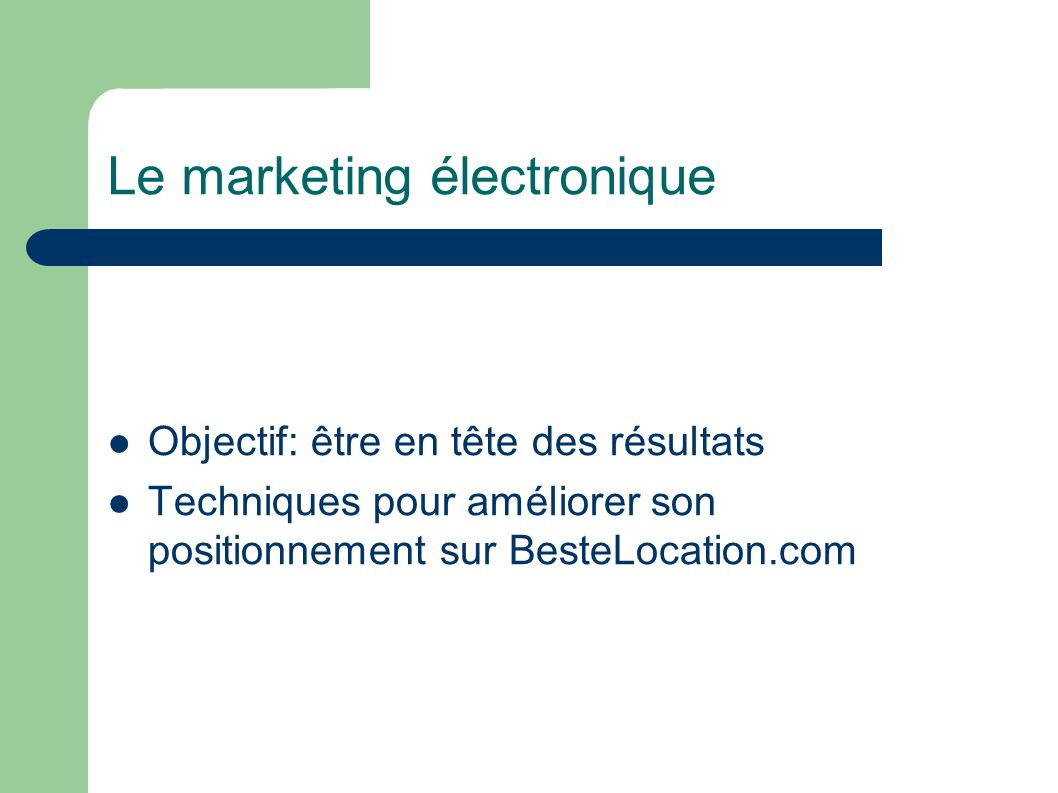 Le marketing électronique