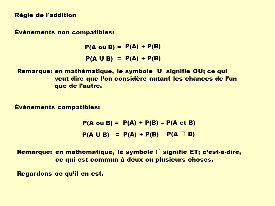 Calcul de probabilits ppt tlcharger 2 rgle ccuart Gallery
