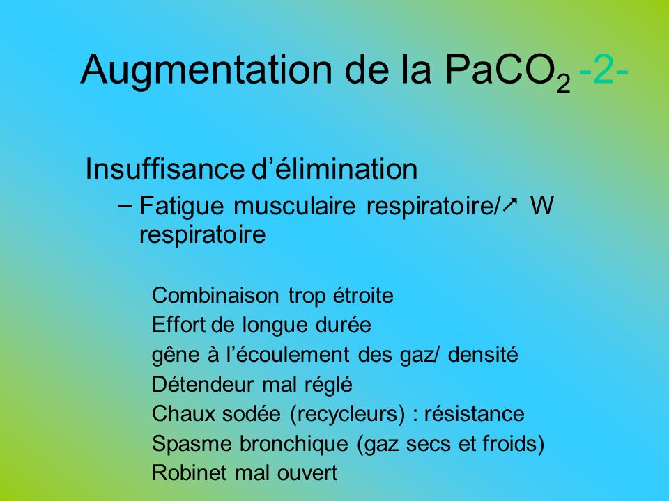 Augmentation de la PaCO2 -2-