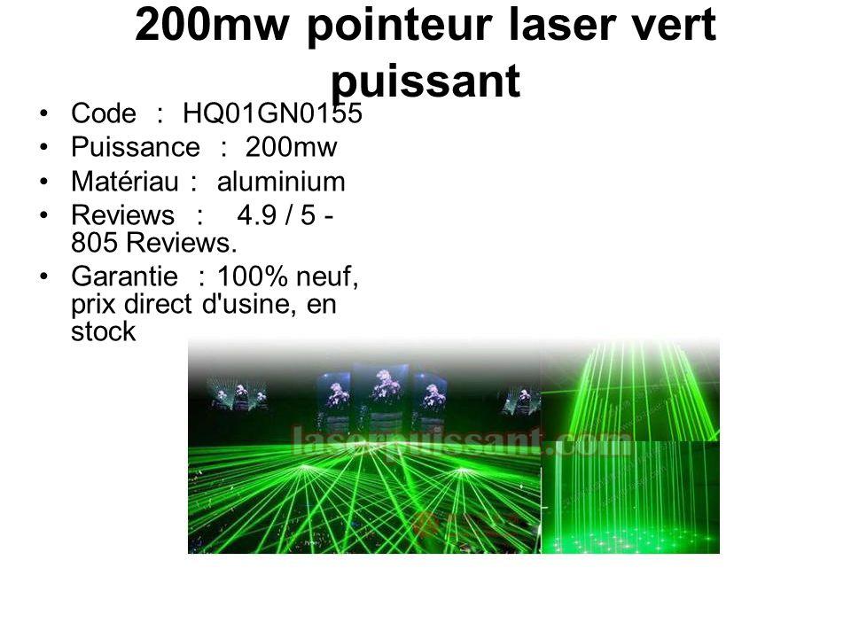 laser ultra puissant vert
