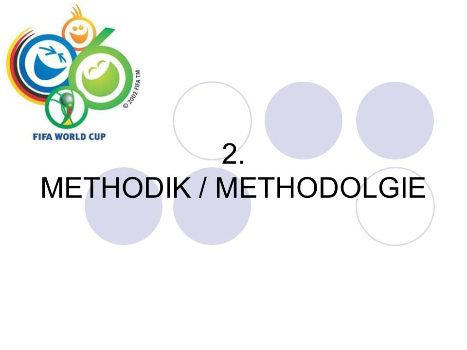 2. METHODIK / METHODOLGIE