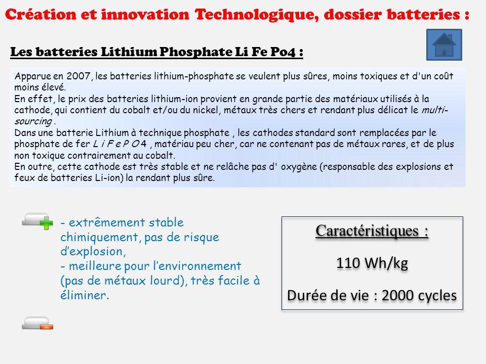 cr ation et innovation technologique dossier batteries ppt t l charger. Black Bedroom Furniture Sets. Home Design Ideas