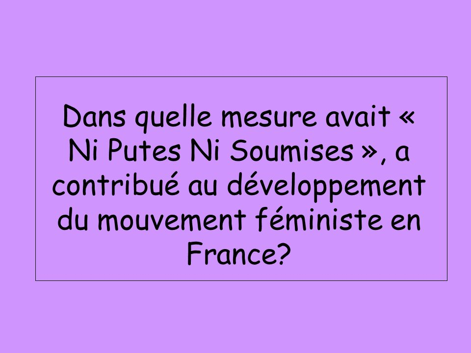 mouvement féministe en france